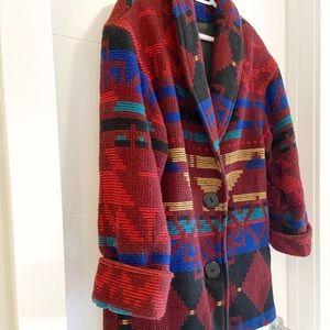 Vintage Aztec Oversized Wool Jacket